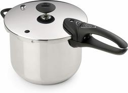 Presto 01365 6-Quart Stainless Steel Pressure Cooker, Deluxe