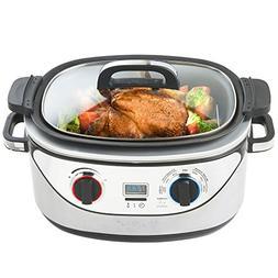 VonShef 8 in 1 Multi Cooker 5-Quart Stainless Steel - Slow C