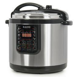 10-in-1 Programmable Pressure Instant Cooker Slow Cook Pot,
