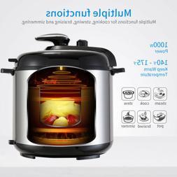 1000W 6QT Electric Digital Multifunction Pressure Cooker Sta