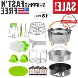 18 Pcs Pressure Cooker Accessories Set Compatible Instant Po