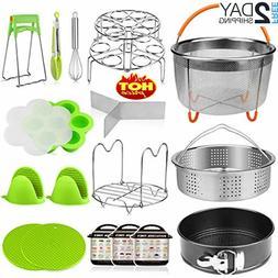 18 pieces pressure cooker accessories set compatible
