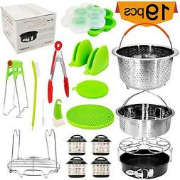 19 Pcs Cooking Electric Pressure Cooker Accessories Set Fits