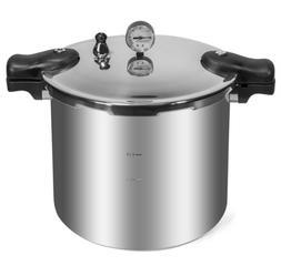22-Quart Pressure Cooker Canner Build-in Dial Gauge Inductio