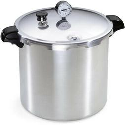 23 Qt. Pressure Cooker Aluminum with Lid, Dial Gauge and Coo