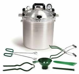 All American 25 QT Pressure Cooker Bundle with 2 Racks and N