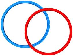 Instant Pot 3-BLUE-RED-2 Sealing Rings, 3 Quart, Blue/Red
