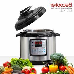 4 Quart Electric Pressure Cooker Pot Meat Food Non-Stick Coo