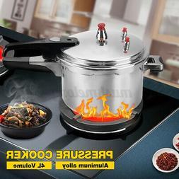 4L Aluminum Pressure Cooker With Steamer Kitchen Fast Cooker