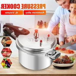 4L Large Aluminum Silver Pressure Cooker Fast Cooker Cookwar