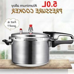 5.2Quart Aluminum Pressure Cooker Kitchen Fast Cooker Canner