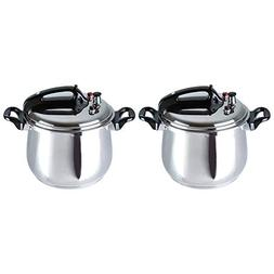 Bene Casa 5.3 Quart Stainless Steel Traditional Stove Top Pr
