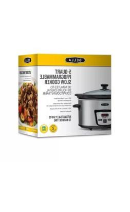 BELLA Bella 5-Quart Programmable Slow Cooker