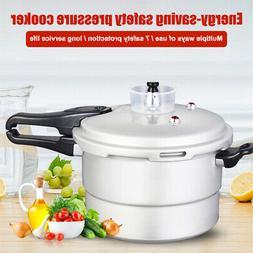 5L 6QT Aluminum Pressure Cooker Pot Fast Cooking Home Kitche