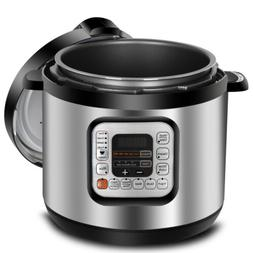 Home Kitchen Pressure Cooker Fast Heat Powerful 1000W 6.3Qt