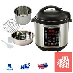 6 Quart Electric Programmable Pressure Cooker Stainless Stee