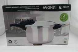 Fagor 6 Quart Innova Pressure Cooker, Polished Stainless Ste