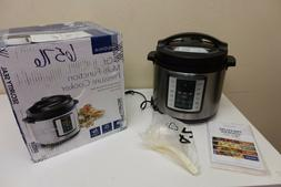 Insignia- 6-Quart Multi-Function Pressure Cooker - Stainless