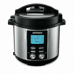 Gourmia - 6-Quart Pressure Cooker - Stainless Steel