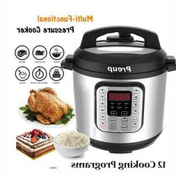 6L 7-IN-1 Multi-Functional Electric Pressure Cooker +12 Cook