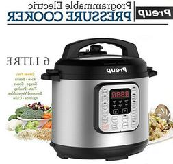 6L Electric Pressure Cooker 8 Function 6 Litre Stainless Ste