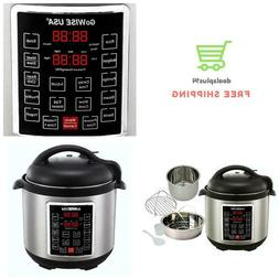 6Qt. Electric Pressure Cooker Quick LCD Display W/ Steamer S