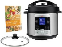 6QT Programmable Pressure Cooker 10-in-1 Multifunctions & 17