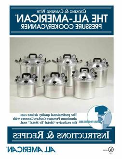 All American 74 Pressure Cooker Canner Instruction Recipe Bo
