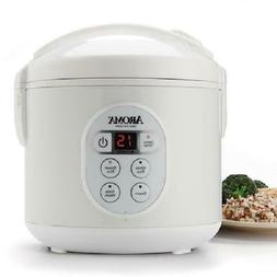 Aroma 8-Cup Digital Rice Cooker and Food Steamer W