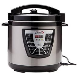 8 Quart Digital Non Stick Stainless Steel Steam Slow Cooker