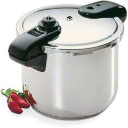 Presto 8-Quart Stainless Steel Pressure Cooker 01370 - NEW !