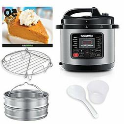 GoWISE USA 8-Quarts 12-in-1 Electric Pressure Cooker + 50 Re