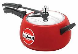 Hawkins Ceramic Coated Contura Pressure Cooker, 5 L, Red