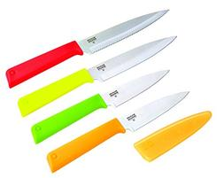 Kuhn Rikon 26698 Classic Paring and Utility Knives , Red/Yel