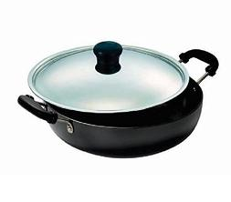 Vinod Hard Anodized Kadai with Stainless Steel Lid, 1.6-Lite