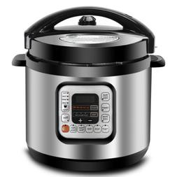 Steel Electric Pressure Cooker Family Size 6Qt 1000W 11 Pres
