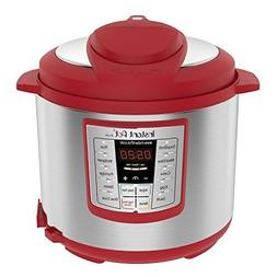 Instant Pot Big Pressure Cooker Red 6 Qt Stainless Steel Ele