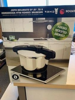 Chef Pressure Cooker Size: 6qt Pressure Cookers, New