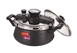 Prestige Clip On Hard Anodised Handi Pressure Cooker with Gl