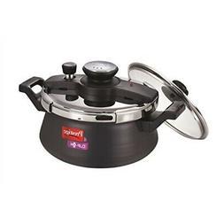 Prestige Clip On Hard Anodised Handi Pressure Cooker with Gl