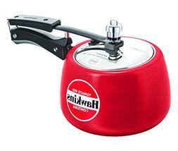 Hawkins Ceramic Coated Contura Pressure Cooker, 3 L, Red