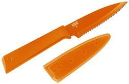 """Kuhn Rikon Colori+ Serrated Paring Knife, 4"""", Orange"""