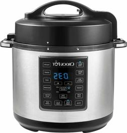 Crock-Pot - Express Crock 6-Quart Pressure Cooker - Stainles