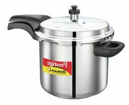 Prestige Deluxe Stainless Steel Pressure Cooker, 6.5 Liters