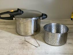 Fagor Duo 8qt 18/10 Stainless Steel Pressure Cooker Cookware