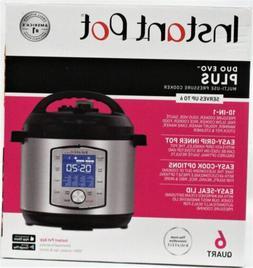 Instant Pot Duo Evo Plus Multi Use Pressure Cooker 6 Quart