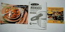 Fagor DUO Pressure Cooker 10Qt 9.5L User's Manual,DVD,Recipe