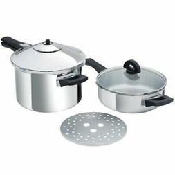 Kuhn Rikon Duromatic Inox Set, Pressure Cooker Pot, Long Han