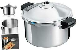 """DUROMATIC Pressure Cooker 11"""" 8.45 qt family of 6 wide bas"""