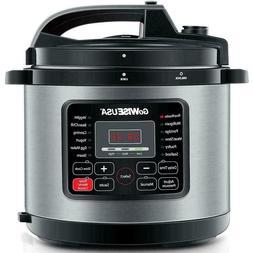 GoWISE USA Electric Pressure Cooker 12.5 Qt. Ceramic Pot Sta
